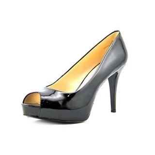 Nine West Camya Peep-Toe Synthetic Heels