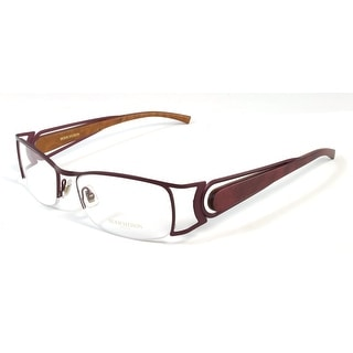 Boucheron Unisex Curved Rectangular Eyeglasses Purple/Gold - S