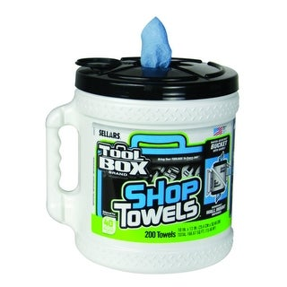 "ToolBox 5520801 Big Grip Bucket Blue Shop Towel, 10"" x 12"", 200-Count"