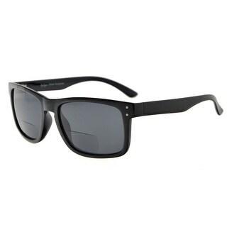 Eyekepper Bifocal Sunglasses Men Women (Tortoise Frame, Grey Lens +2.25)