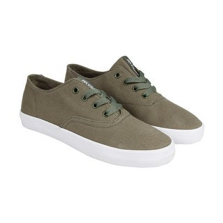 Supra Wrap Mens Green Canvas Lace Up Sneakers Shoes