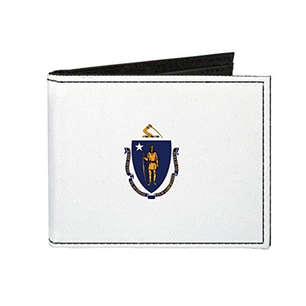 Buckle-Down Canvas Bi-fold Wallet - Massachusetts Flag Accessory
