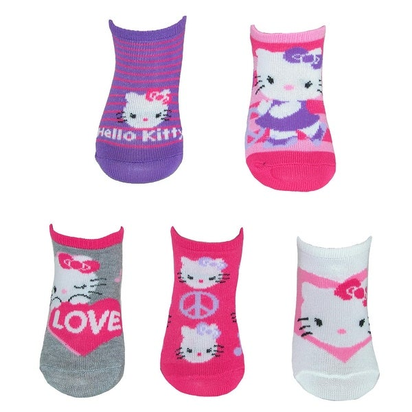 Womens Girls 4 or 8 Pack No-Show Open Toe Cotton Socks Fits Us Shoe Size 4-7.5