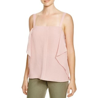 Tory Burch Womens Casual Top Silk Pintuck
