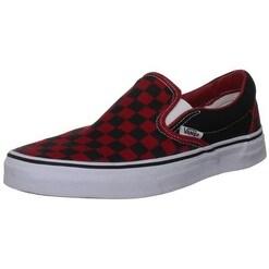 vans slip on checkerboard red