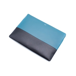 Celine Solo Large Two-Toned Blue and Black Pouch / Clutch