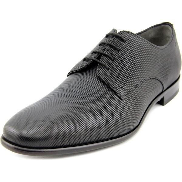ab499dd8b16 Shop Boss Hugo Boss C-Hureb Men Square Toe Leather Black Oxford ...