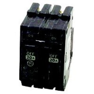GE THQL2120 Double Pole Circuit Breaker, 20 Amp
