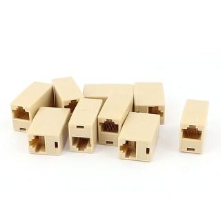 Unique Bargains 9 Pcs RJ45 8P8C F/F Network Cable Coupler Connector Adapter Extender Beige
