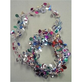Party Deco 04750 9 ft. Multi 50 Birthday Wire Garland - Pack of 12