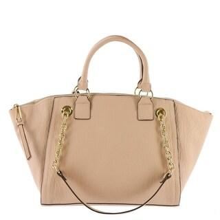 Jessica Simpson Womens Eve Faux Leather Convertible Satchel Handbag - Blush - Medium