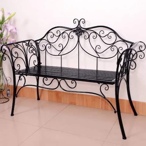 Garden Bench Antique Black