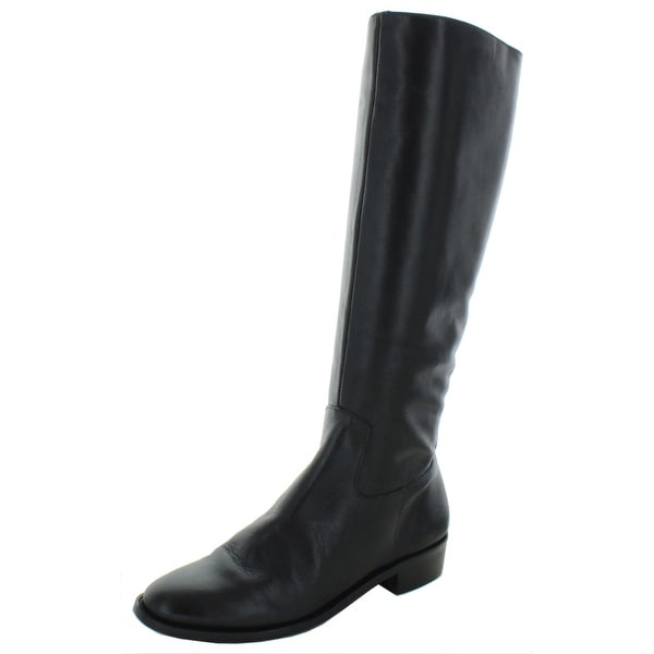 """Elites by Walking Cradles Womens Mate 14"""" Riding Boots Leather Knee-High - Black. Opens flyout."""