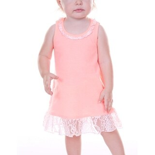 Kavio! Infants Lace Trim A-Line Tank Dress (4 options available)