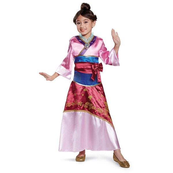 Girls Deluxe Mulan Disney Princess Halloween Costume  sc 1 st  Overstock.com & Shop Girls Deluxe Mulan Disney Princess Halloween Costume - Free ...