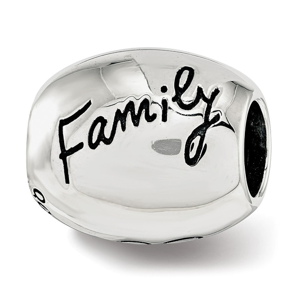 Sterling Silver Reflections Antiqued We Are Family Flower Bead (4.5mm Diameter Hole)