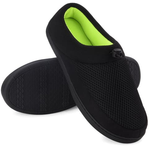 VONMAY Men's Slippers Memory Foam House Shoes Indoor Outdoor Adjustable Breathable Closed Back