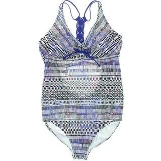 PrAna Womens Printed Racerback One-Piece Swimsuit - M