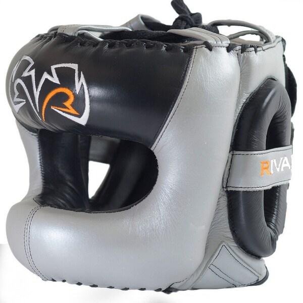 Rival Boxing RHG2 Leather Ultra Sleek Headgear Black