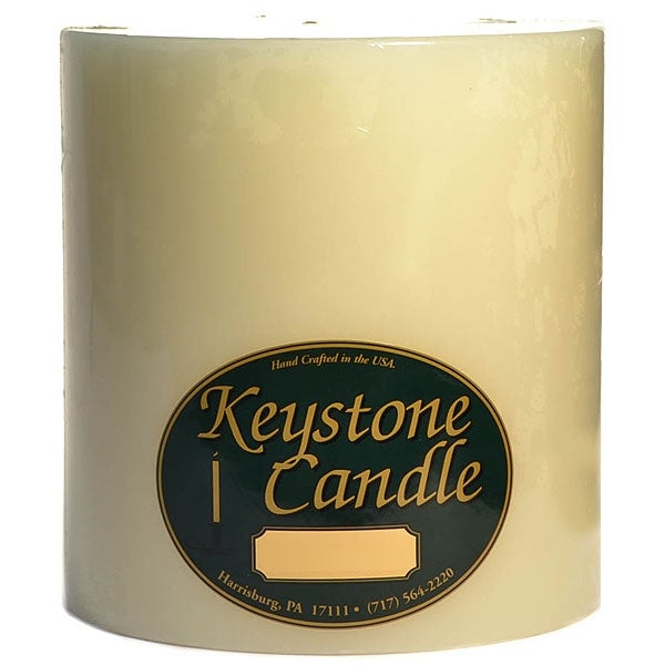 1 Pc Unscented Ivory 6x6 Pillar Candles 6 in. diameterx6.25 in. tall