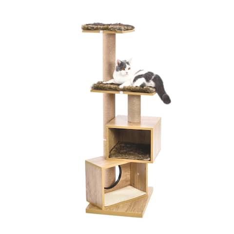"49"" Modern Cat Tree Sisal Scratching Post"