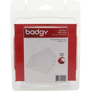 Evolis CBGC0030W Evolis Badgy Thick PVC Plastic Cards - Compatible with all Badgy printers