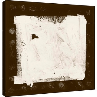 """PTM Images 9-100903  PTM Canvas Collection 12"""" x 12"""" - """"Sepia M"""" Giclee Abstract Art Print on Canvas"""