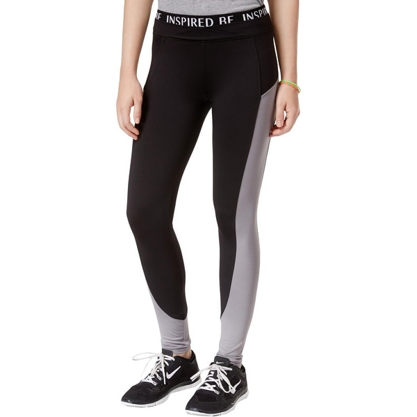 8d230ce26f678a Shop Energie Womens Juniors Athletic Leggings Mesh Inset Slimming - Free  Shipping On Orders Over $45 - Overstock - 27220323