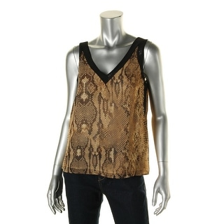 Anne Klein Womens Snake Print Lightweight Tank Top