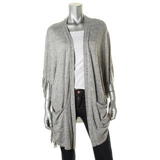 All At Once Womens Fringe Open Front Cardigan Sweater