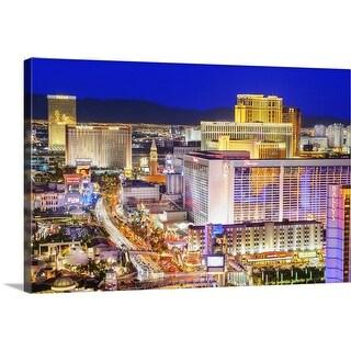 """The Las Vegas Strip, Nevada"" Canvas Wall Art"