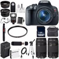 Canon EOS Rebel T5i 18 MP CMOS Digital SLR Camera (International Model) + EF 75-300mm Lens Bundle
