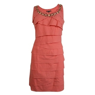 S.L. Fashions Women's Beaded Tier Dress - 12