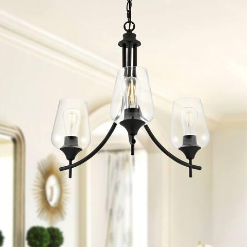GetLedel Modern 3-light Pendant Chandelier with Glass Shades