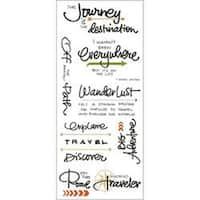Travel - Little Yellow Bicycle Vellum Stickers