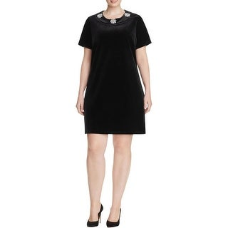 MICHAEL Michael Kors Womens Plus Casual Dress Short Sleeves Embellished