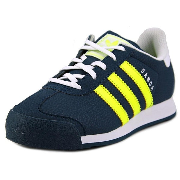 Adidas Samoa Youth  Round Toe Synthetic Blue Sneakers