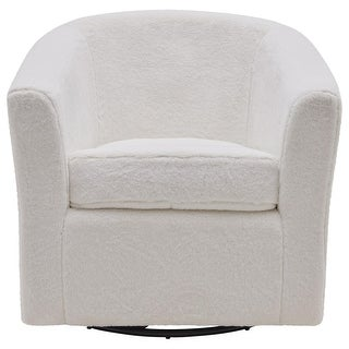 Link to Hayden Faux Fur Fabric Swivel Chair Similar Items in Living Room Chairs