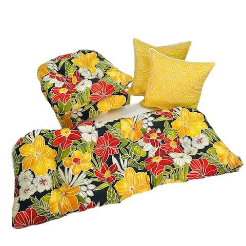 Outdoor Clemens Noir 5 Piece Cushion Set - 19