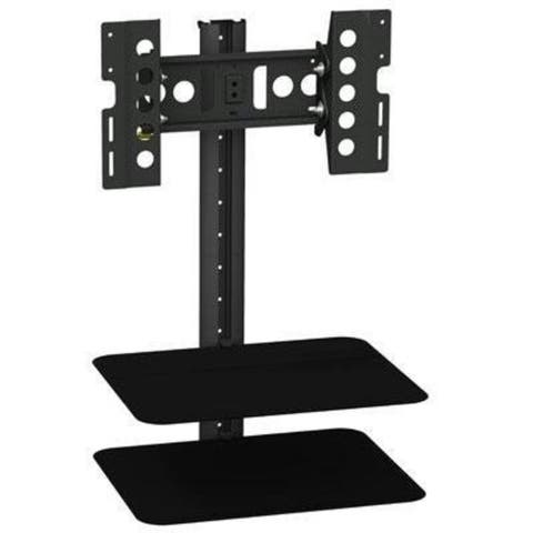 AVF Group ESL422B-T Tilt & Turn TV Mount with Shelving