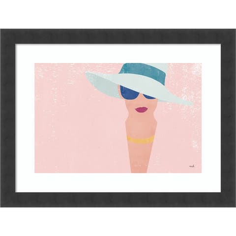 Fashion Forward (Woman) by Moira Hershey Framed Wall Art Print