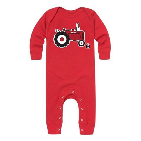 Ih Little Tractor - Baby Long Legged Bodysuit