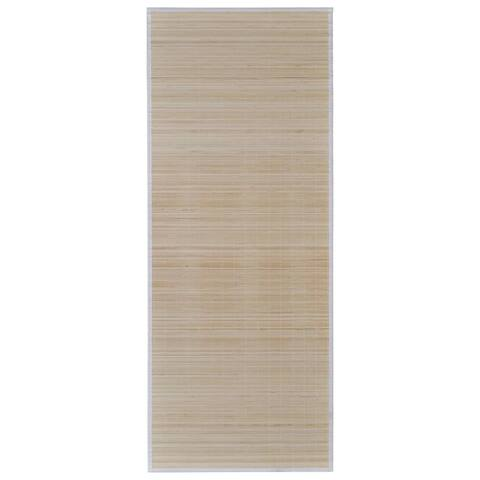 "vidaXL Rectangular Natural Bamboo Rug 59.1"" x 78.7"""