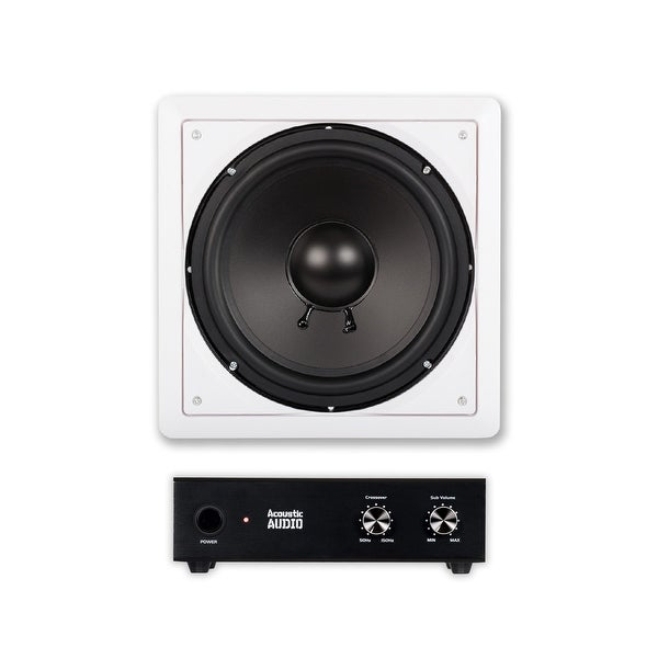 shop acoustic audio iws10 in wall 10 passive subwoofer and amplifier for home theater surround. Black Bedroom Furniture Sets. Home Design Ideas