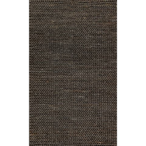 Alexander Home Hand-woven Natural Jute Farmhouse Rug