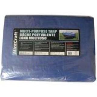 Mintcraft T0608BB90 Medium Duty Storage Cover Tarp 6'x8', Blue