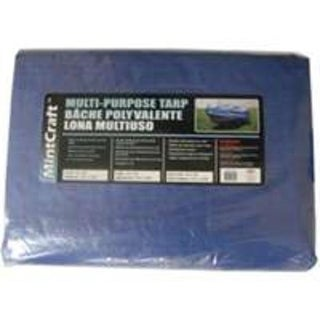 Mintcraft T1216BB90 Medium Duty Storage Cover Tarp 12'x16', Blue