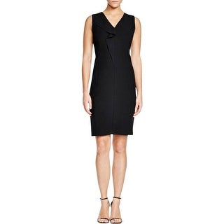 T Tahari Womens Tallie Wear to Work Dress Sleeveless Ruffled