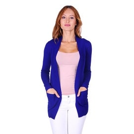 Simply Ravishing Women's Long Sleeve Open Knit Cardigan (Size: S - 2X) (More options available)