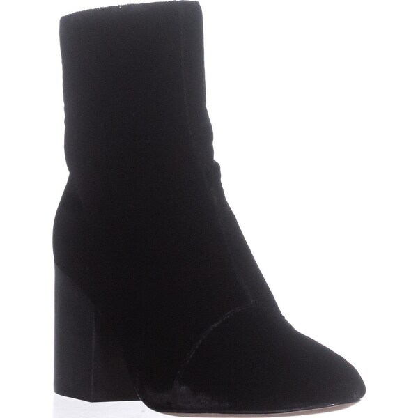 Bettye Muller Block-Heel ANkle Booties, Black - 6.5 us